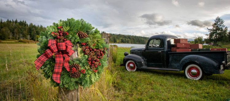 lynch creek farms wreath and truck